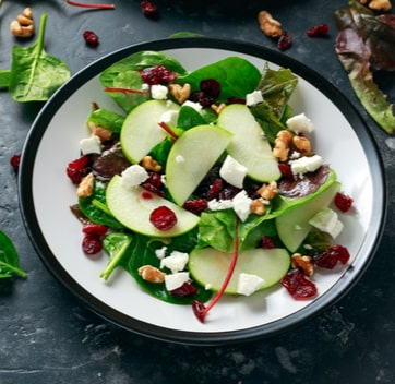 image of a salad for group glamping holiday company Kymani