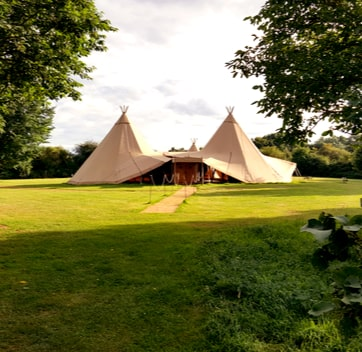 double hat tipee for glamping for large groups